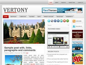 Vertony WordPress website template