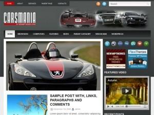 WordPress template CarsMania