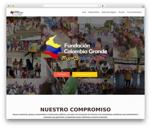 WordPress template OnePirate - fundacioncolombiagrande.org