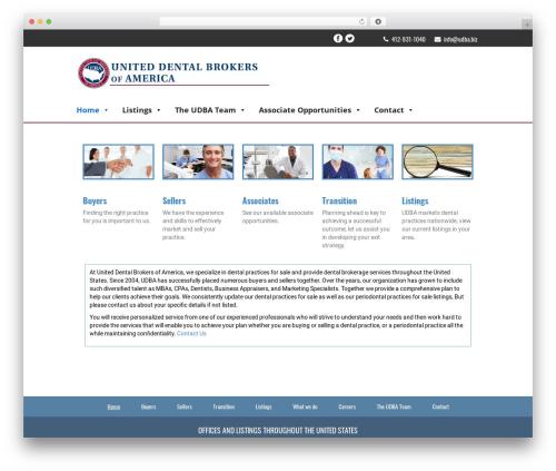WordPress template Your Web Layout - udba.biz