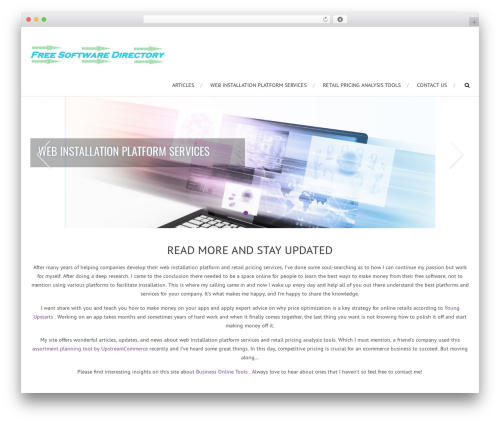 WordPress theme AccessPress Root Pro - freesoftwaredirectory.net