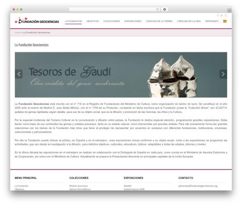 WordPress theme Cubby - fundaciongeociencias.org