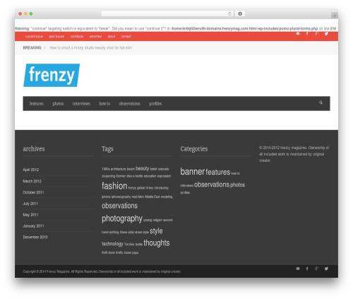 WordPress theme NEUE - frenzymag.com