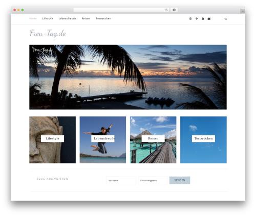 WordPress theme Prima Donna - freu-tag.de