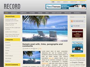 WordPress theme Record