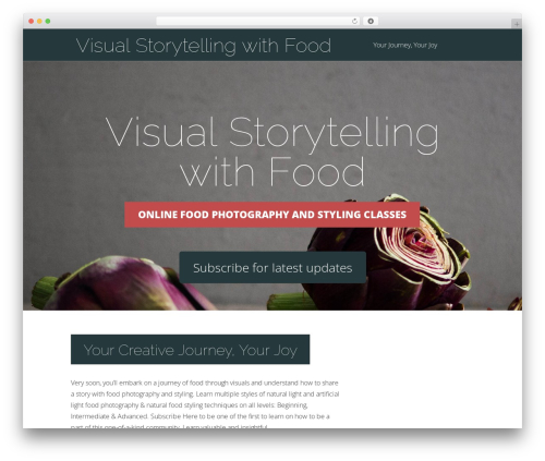 WordPress website template Vertex - foodphotographyclass.com