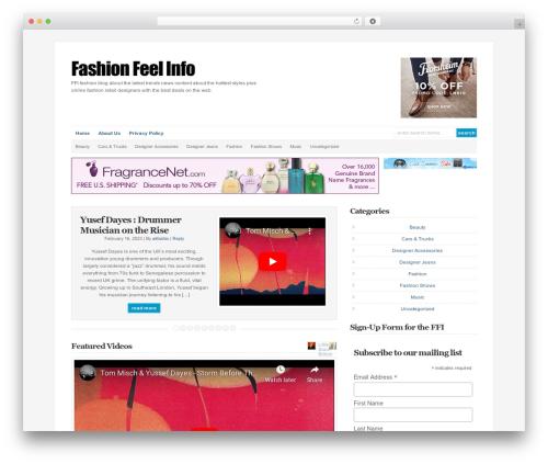WP-DaVinci WordPress blog theme - fashionfeelinfo.net