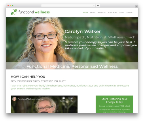 WP template Avada - functionalwellness.com.au