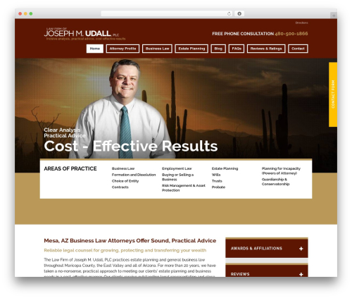 WP theme Project X v15 - udallattorneys.com