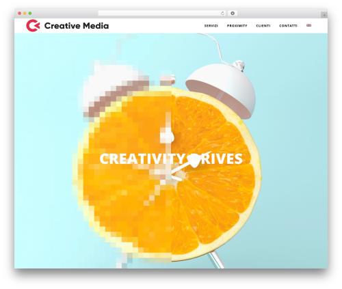 Bridge WordPress page template - creativemedia.it