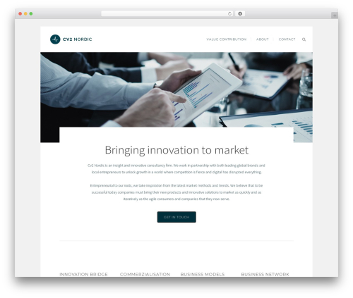 Bridge WordPress theme - cv2nordic.com