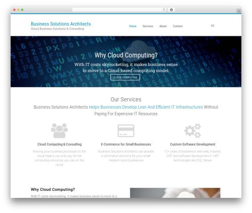 Canvas premium WordPress theme - cloudbusinessarchitects.com
