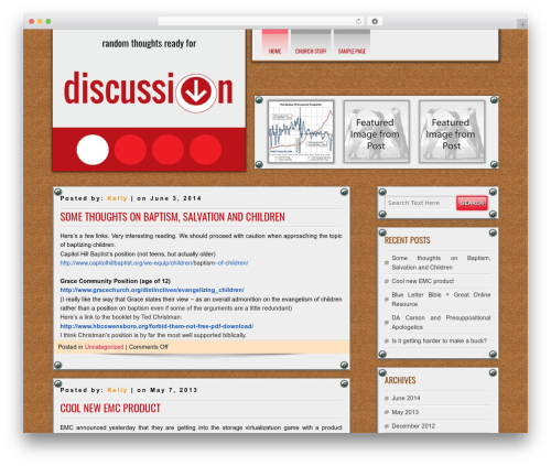 DISCUSSION WordPress template free - c00k.org