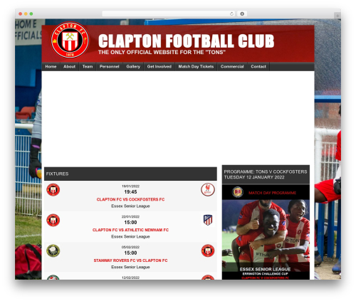 Football Club theme WordPress - claptonfc.com