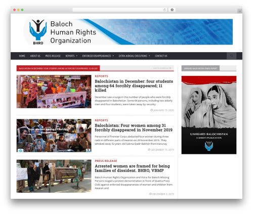 Novomag Premium Theme [Shared By themes24x7.com] WordPress theme - balochhumanrights.org