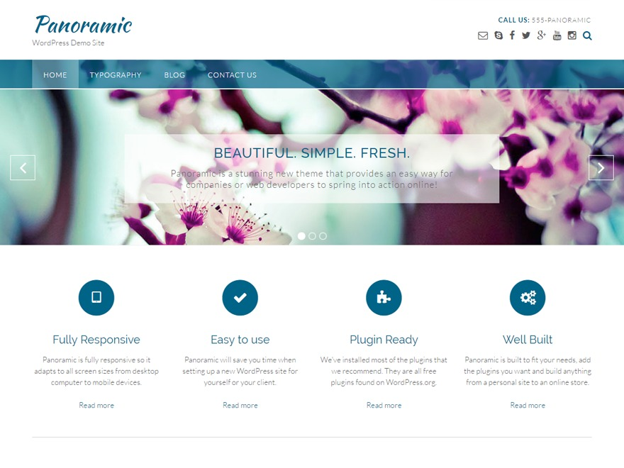 Panoramic WordPress shopping theme
