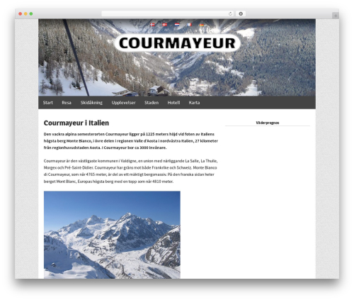 Responsive Pro best WordPress theme - courmayeur.se