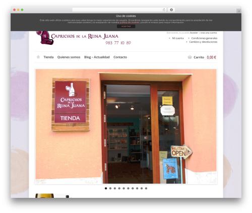Shoppica WordPress store theme - caprichosdelareinajuana.com
