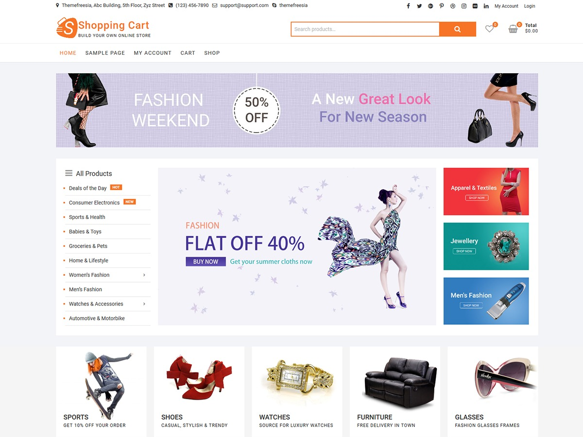 ShoppingCart WordPress shopping theme