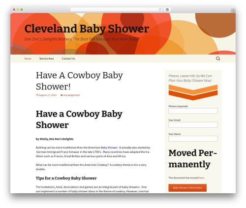 Twenty Thirteen WordPress template free download - clevelandbabyshower.com