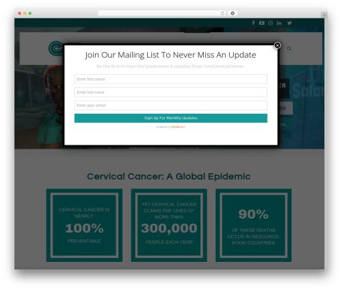 WordPress cmsmasters-mega-menu plugin - curecervicalcancer.org