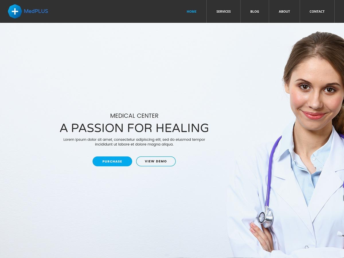MedPlusWP medical WordPress theme