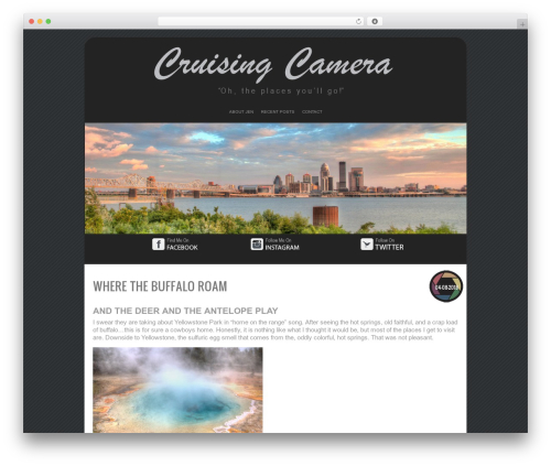 ProPhoto WordPress photo theme - cruisingcamera.com