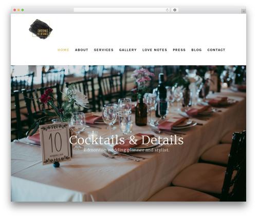 Salient best wedding WordPress theme - cocktailsanddetails.ca