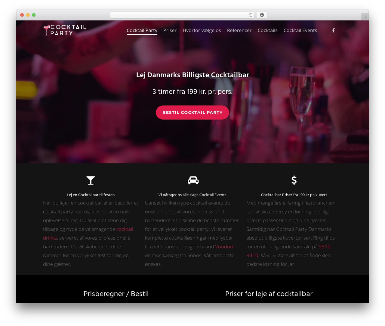 Salient WordPress template for business - cocktailparty.dk