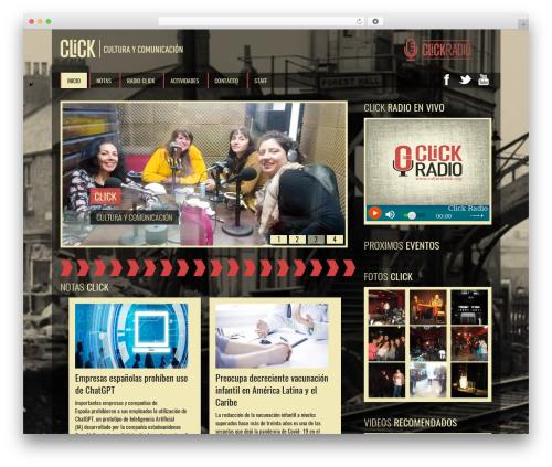 SoundWave best WordPress template - culturaclick.org