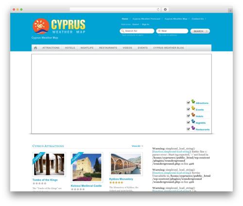 Theme WordPress Geo Places - cyprusweathermap.com