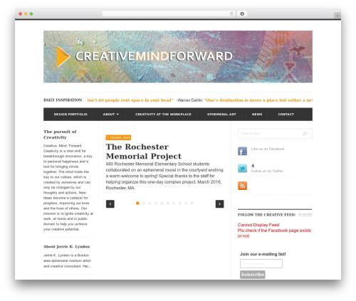 UrbanNews WordPress news template - creativemindforward.com