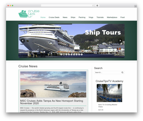 WP Champion top WordPress theme - cruisetipstv.com