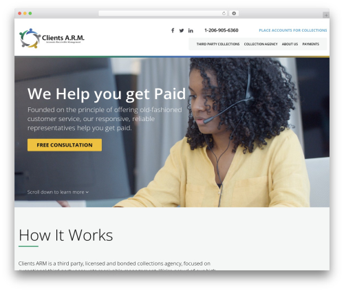 cherry business WordPress theme - clientsarm.com