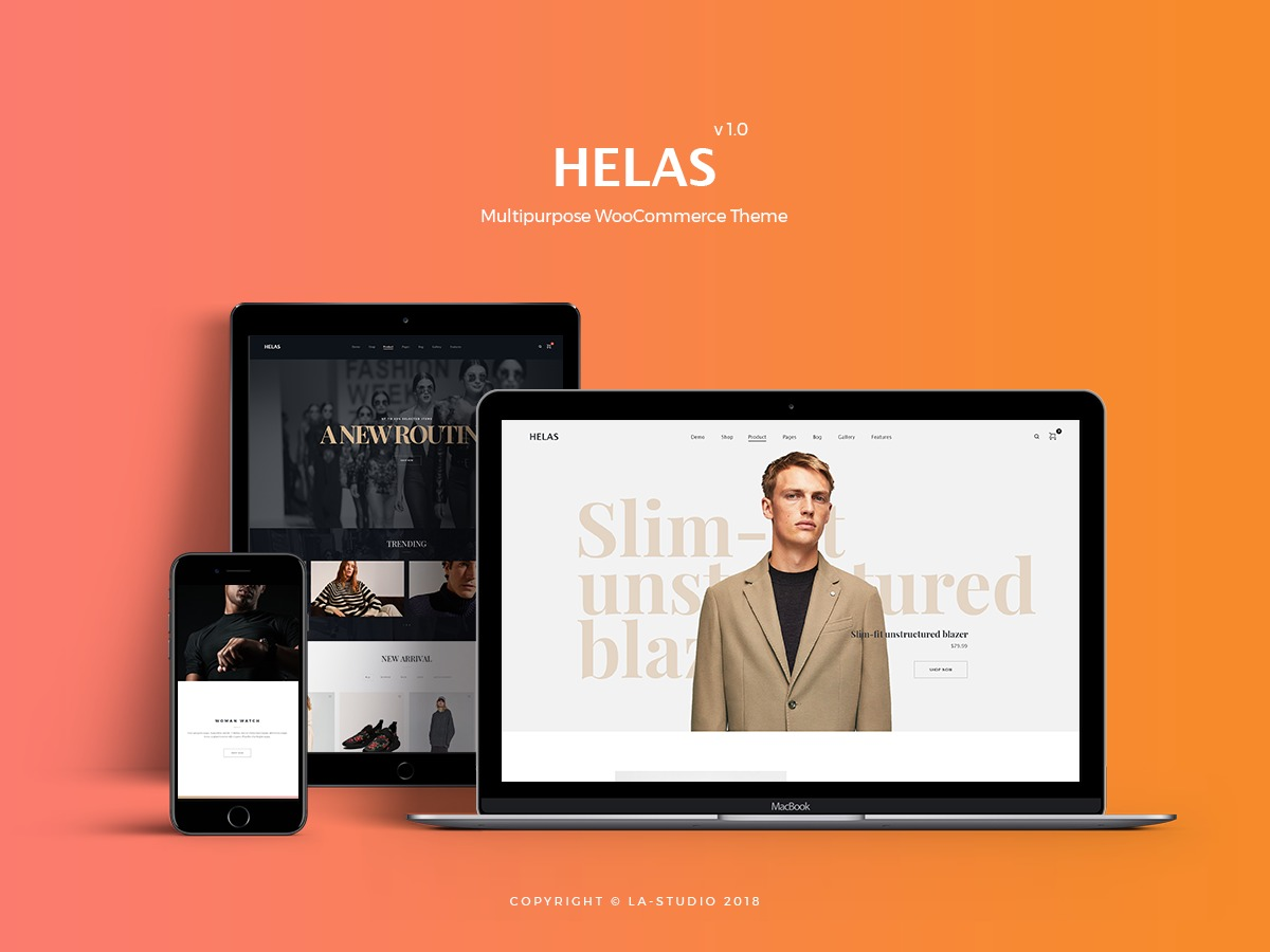 Helas WordPress ecommerce template