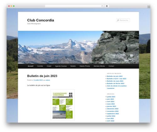 Theme WordPress Twenty Eleven - clubconcordia.ch