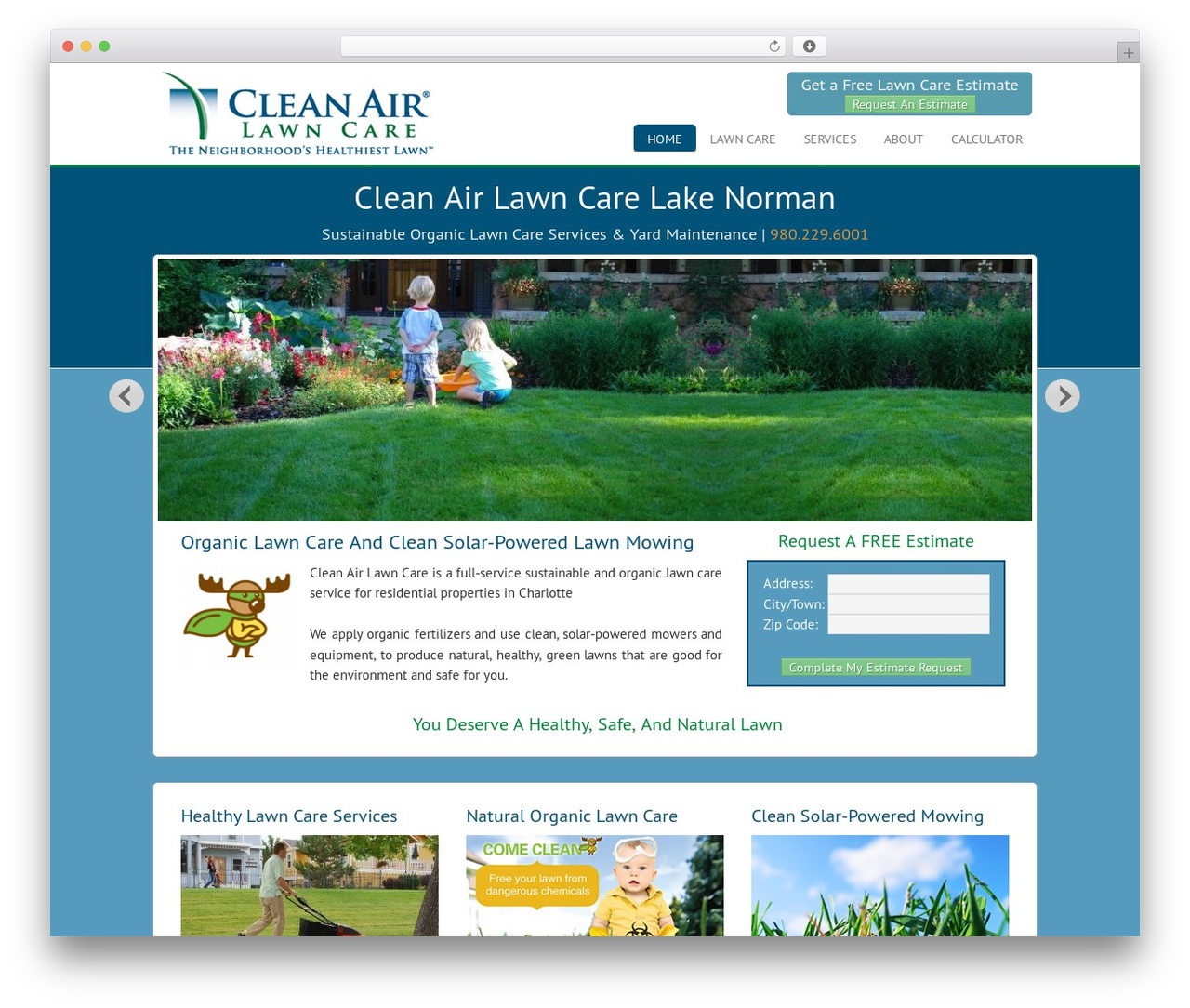Agency Child Theme WordPress theme - cleanairlawncarelkn.com
