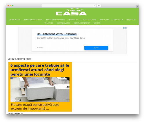 Catalyst best WordPress template - concept-casa.ro