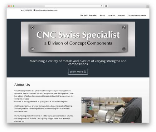Divi WP template - cncswissspecialist.com