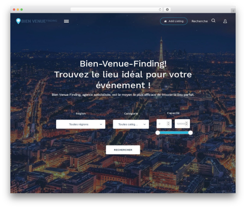 ListingEasy WordPress theme - bien-venue-finding.com