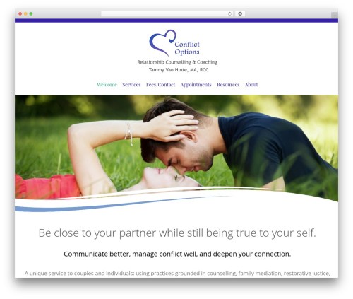Longevity free WordPress theme - conflictoptions.com