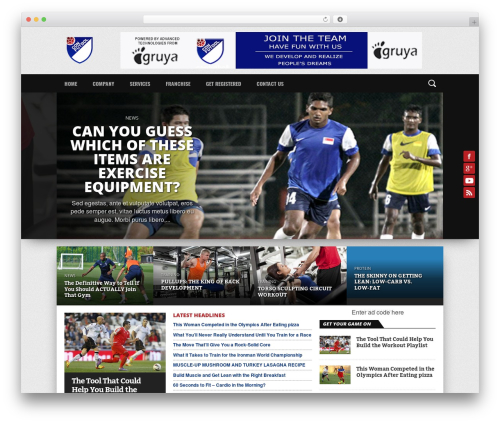 Osage WordPress theme - confutbol.net