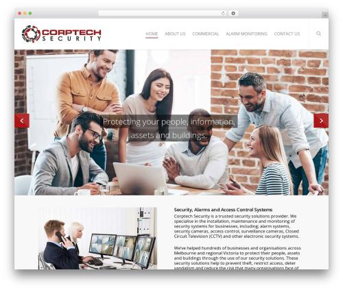 Salient WordPress website template - corptechsecurity.com.au