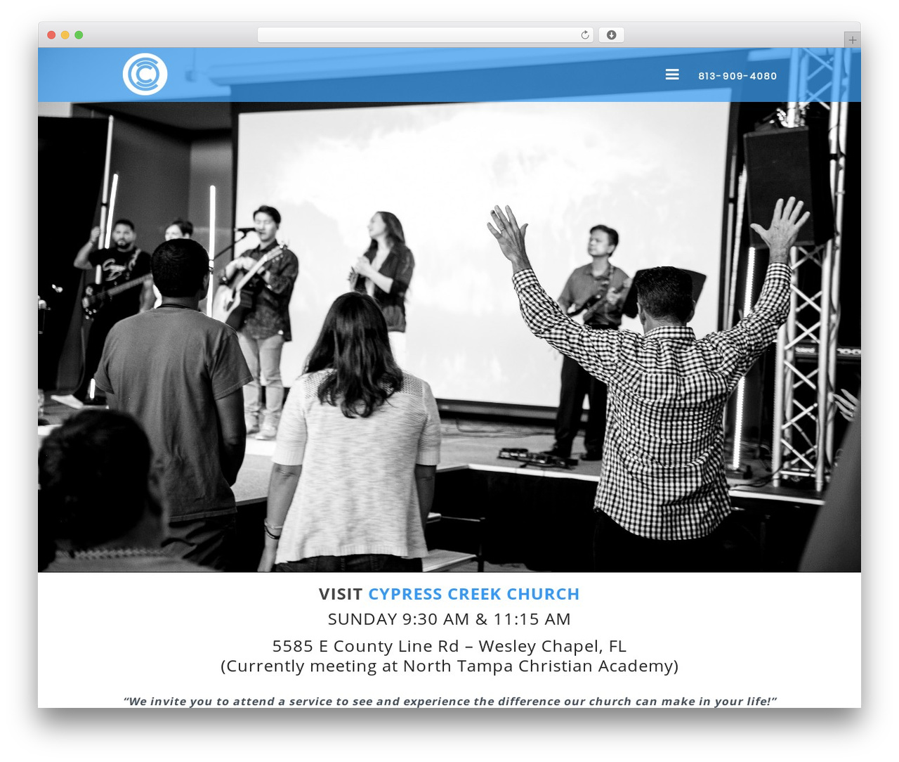 Sharefaith Church Website Template WordPress theme - cypresscreek.church