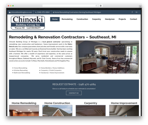 Theme WordPress Creativo Theme - chinoski.com