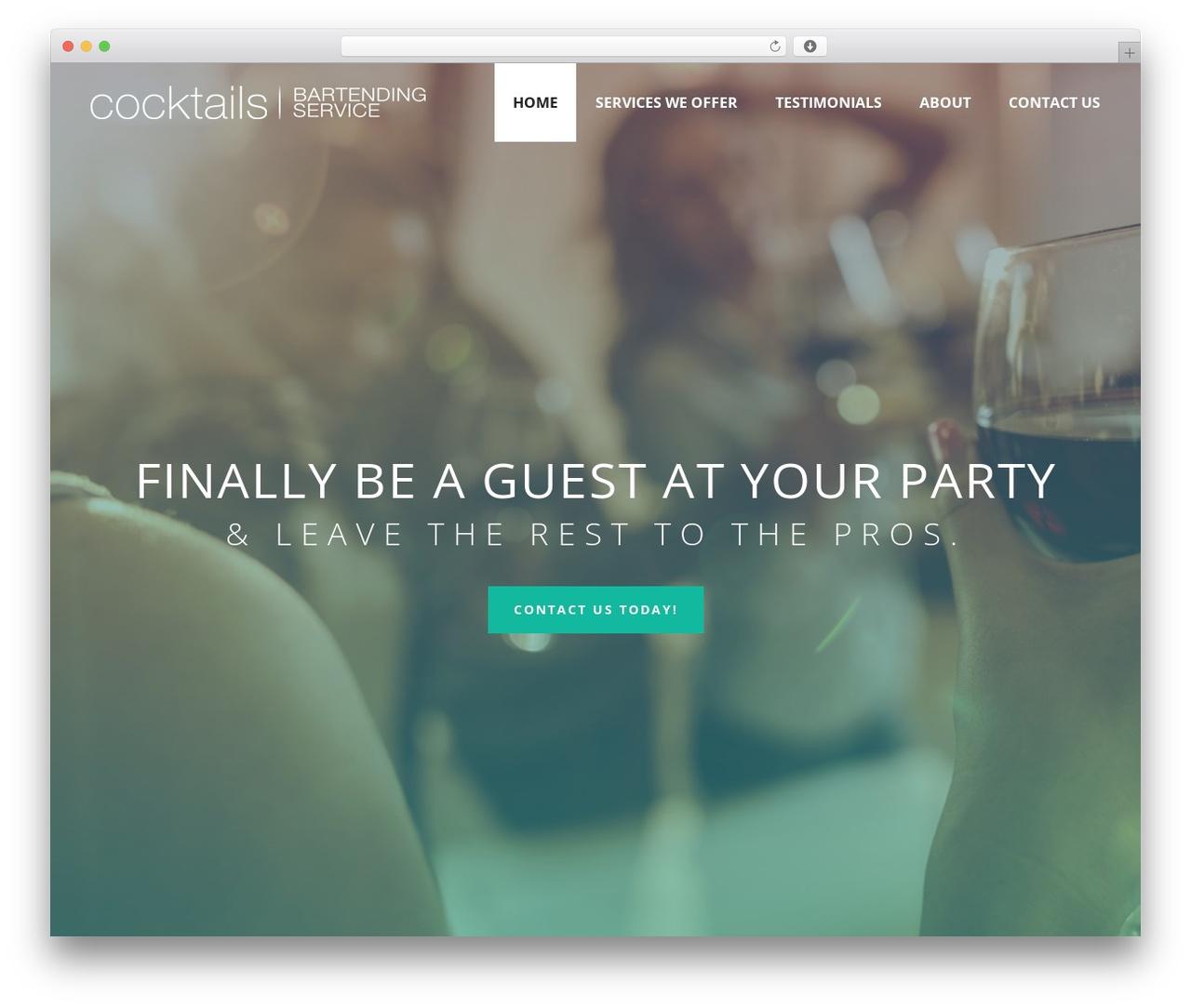 WordPress theme Jupiter - cocktailservices.com