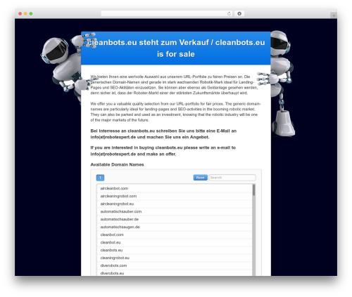 WordPress website template DIFSTHEME - cleanbots.eu