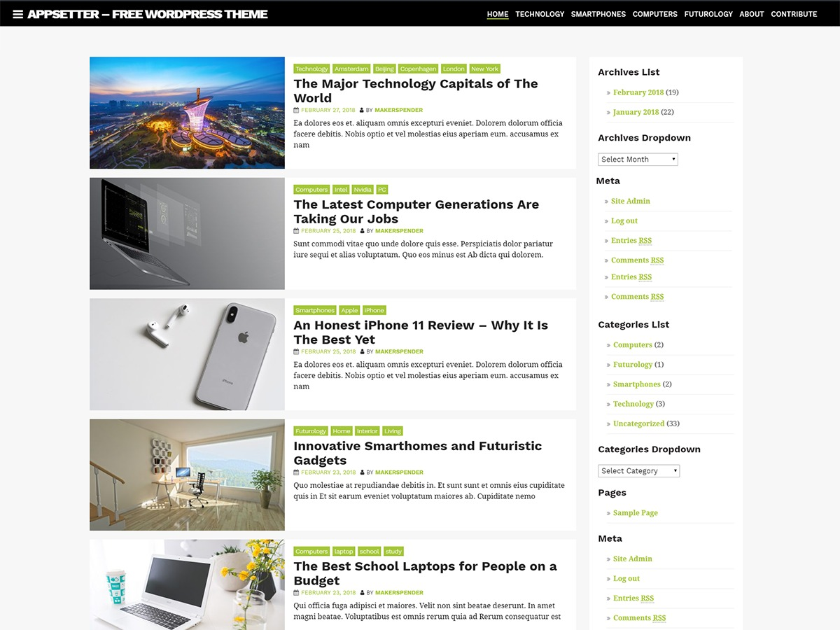 AppSetter WordPress shop theme