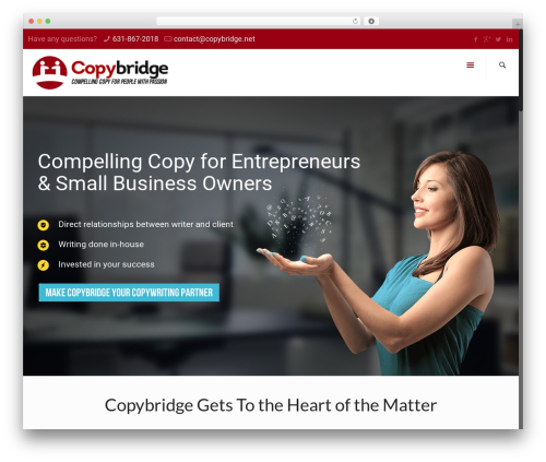 Betheme best WordPress template - copybridge.net