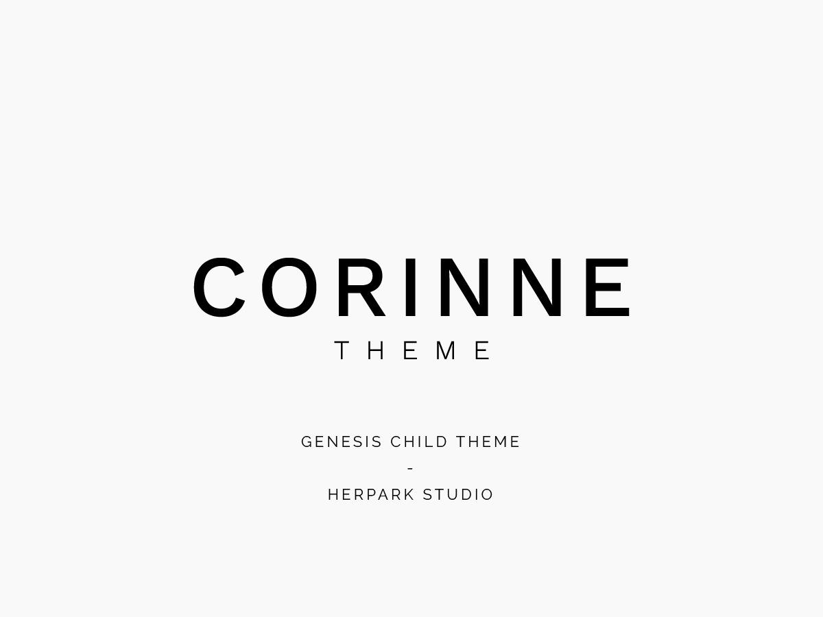 Corinne WordPress theme design